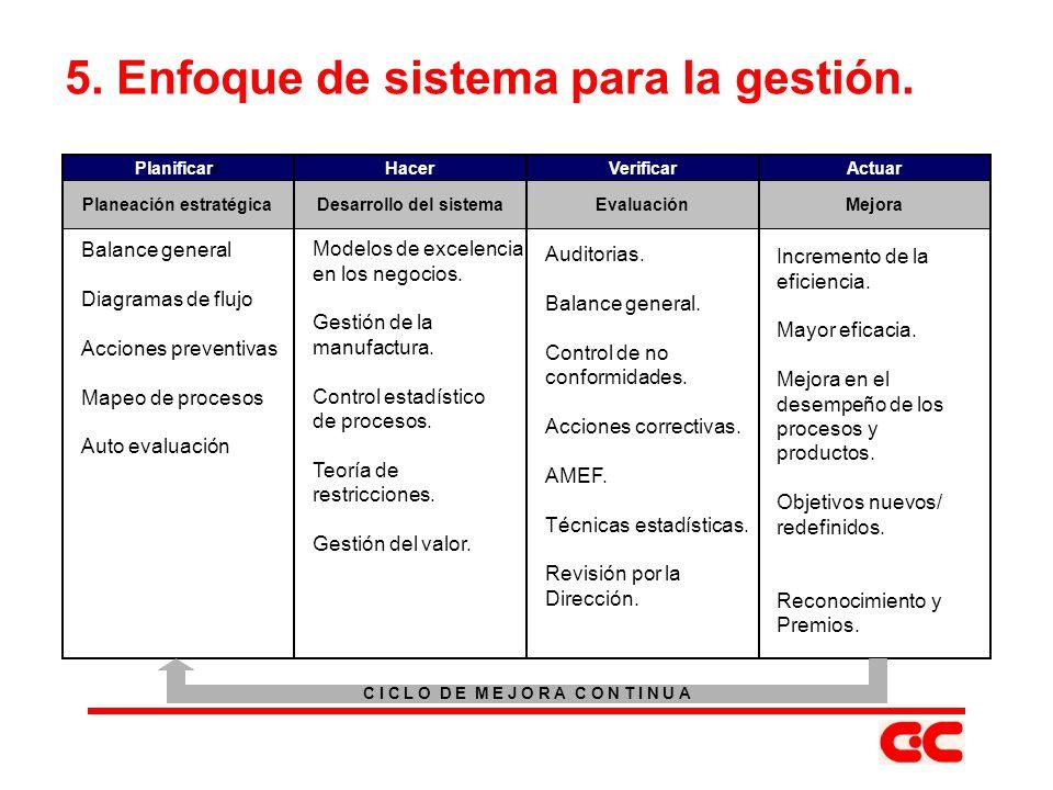 5. Enfoque de sistema para la gestión.