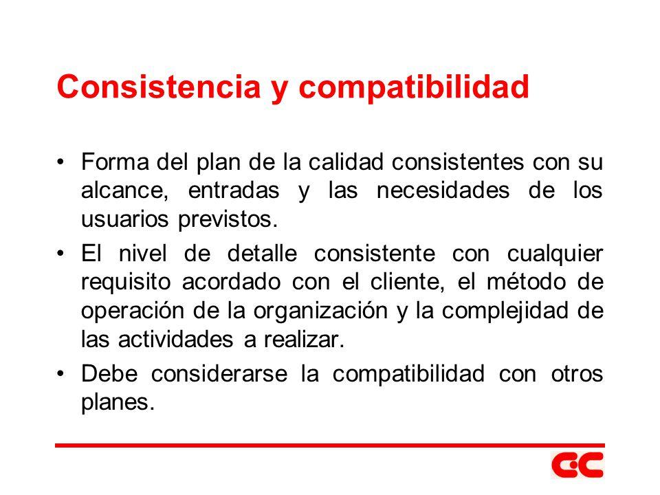 Consistencia y compatibilidad