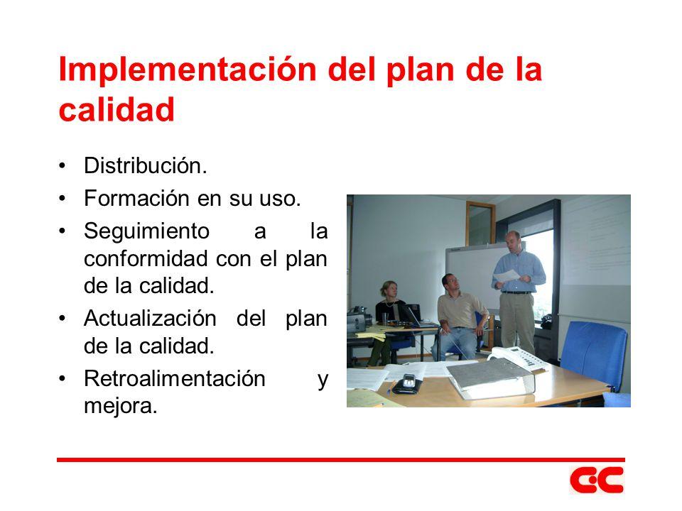 Implementación del plan de la calidad