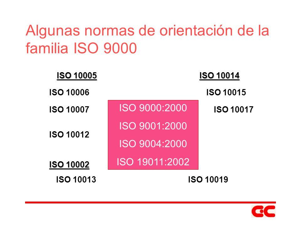 Algunas normas de orientación de la familia ISO 9000