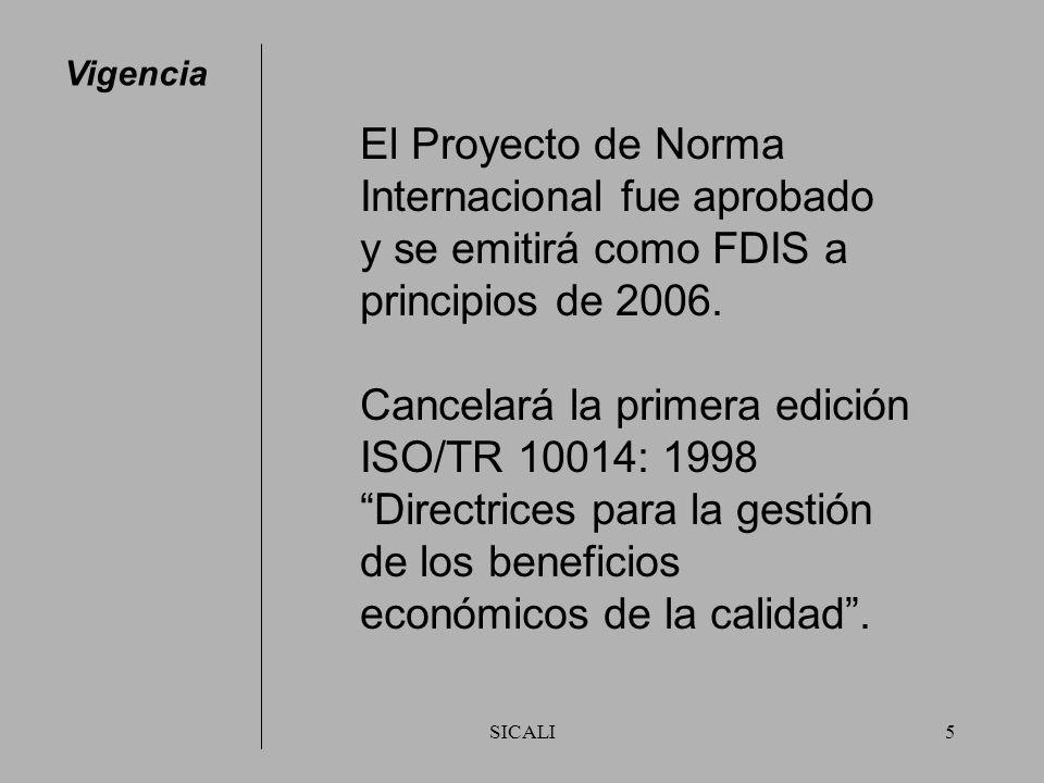 Internacional fue aprobado y se emitirá como FDIS a