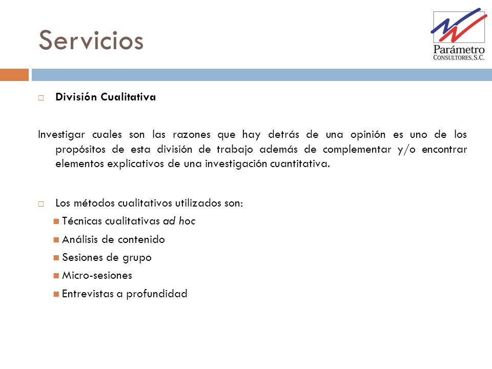 Servicios División Cualitativa