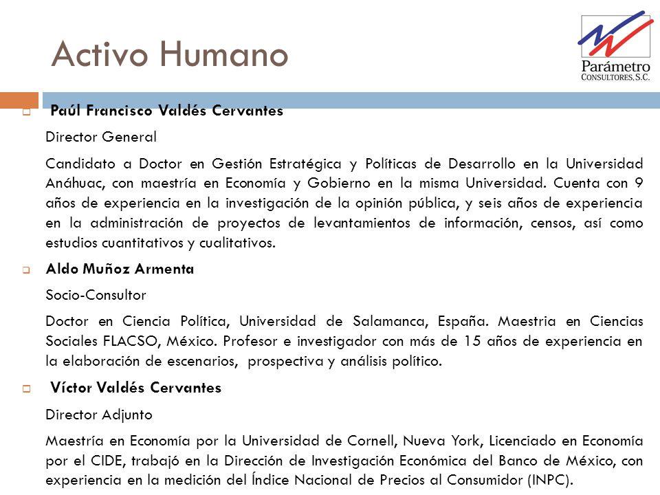 Activo Humano Paúl Francisco Valdés Cervantes Víctor Valdés Cervantes