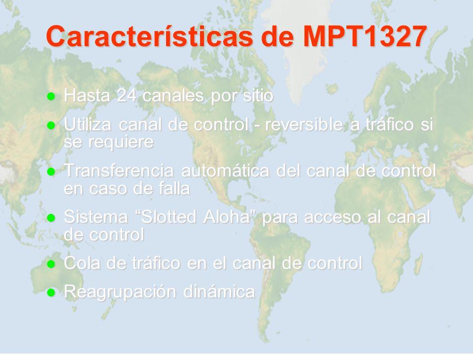 Características de MPT1327