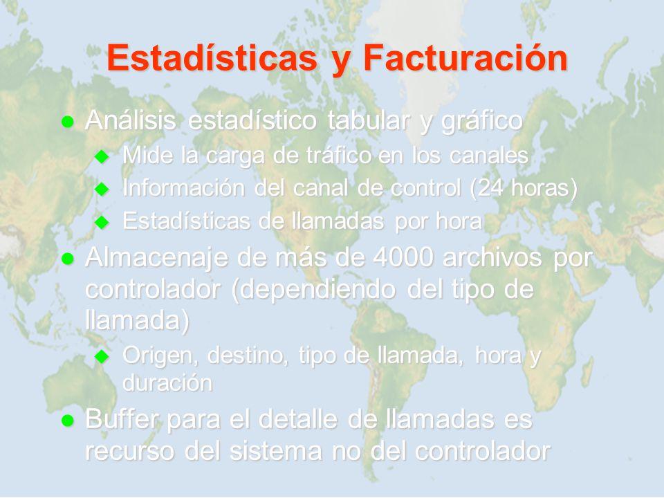 Estadísticas y Facturación