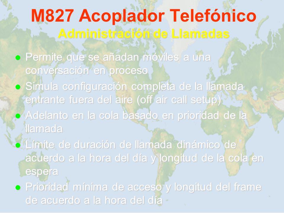 M827 Acoplador Telefónico Administración de Llamadas