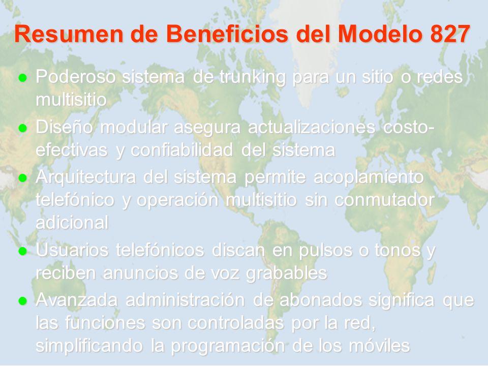 Resumen de Beneficios del Modelo 827