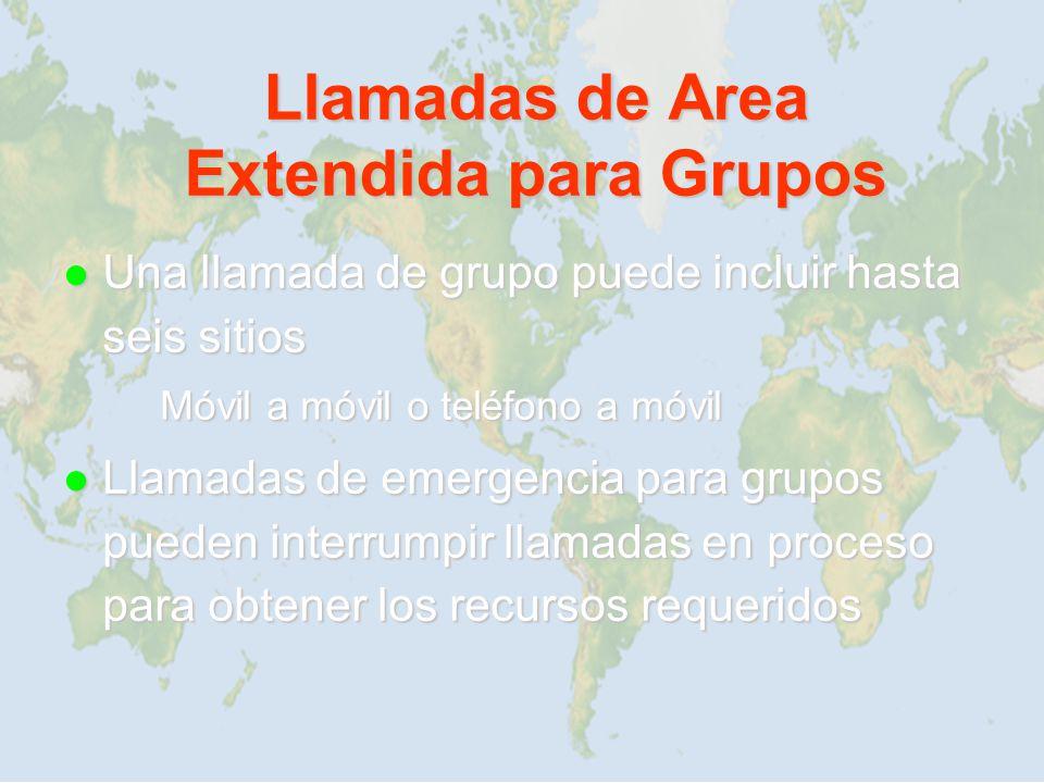 Llamadas de Area Extendida para Grupos