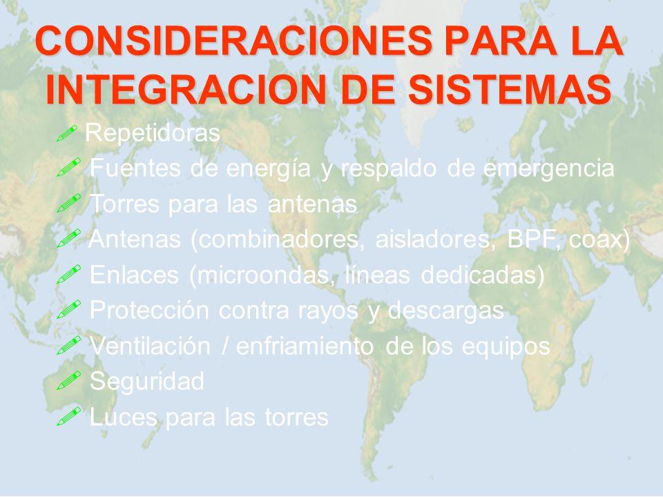 CONSIDERACIONES PARA LA INTEGRACION DE SISTEMAS