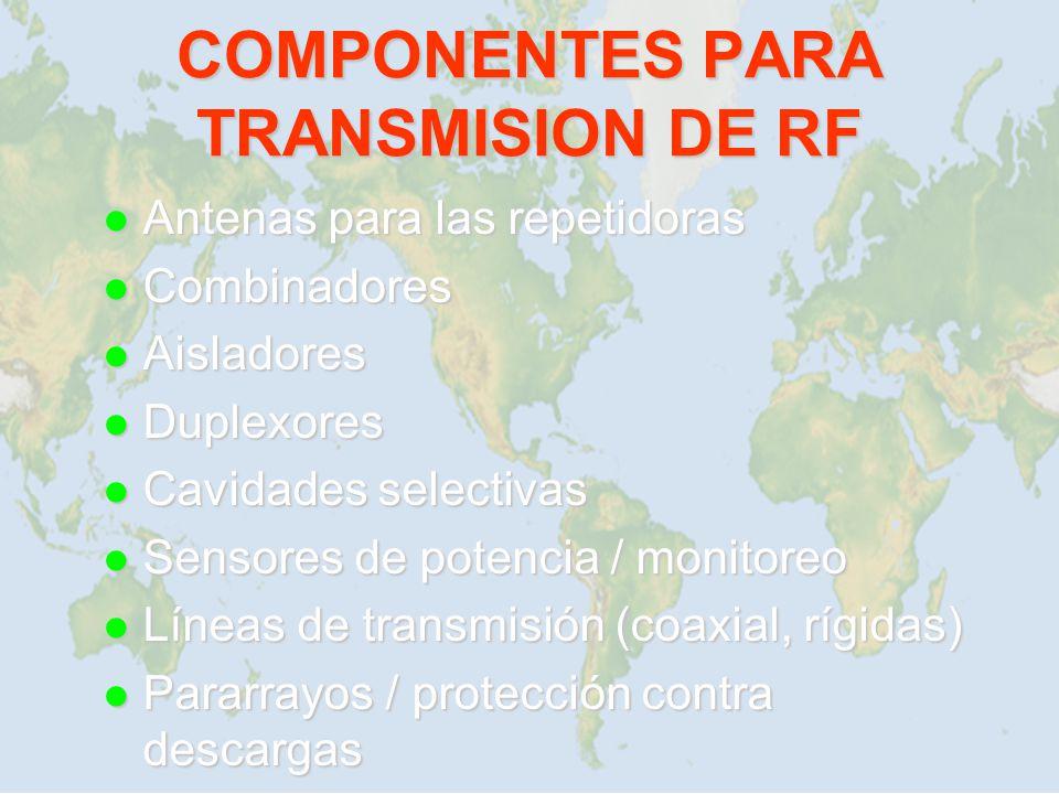 COMPONENTES PARA TRANSMISION DE RF