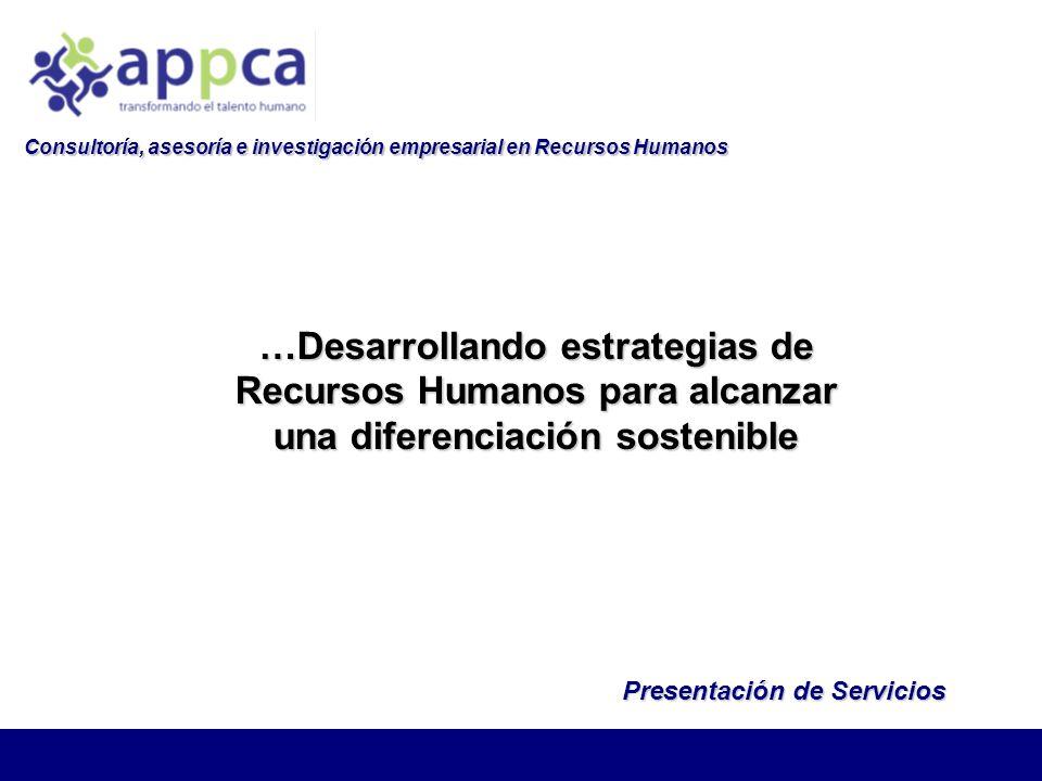 Consultoría, asesoría e investigación empresarial en Recursos Humanos
