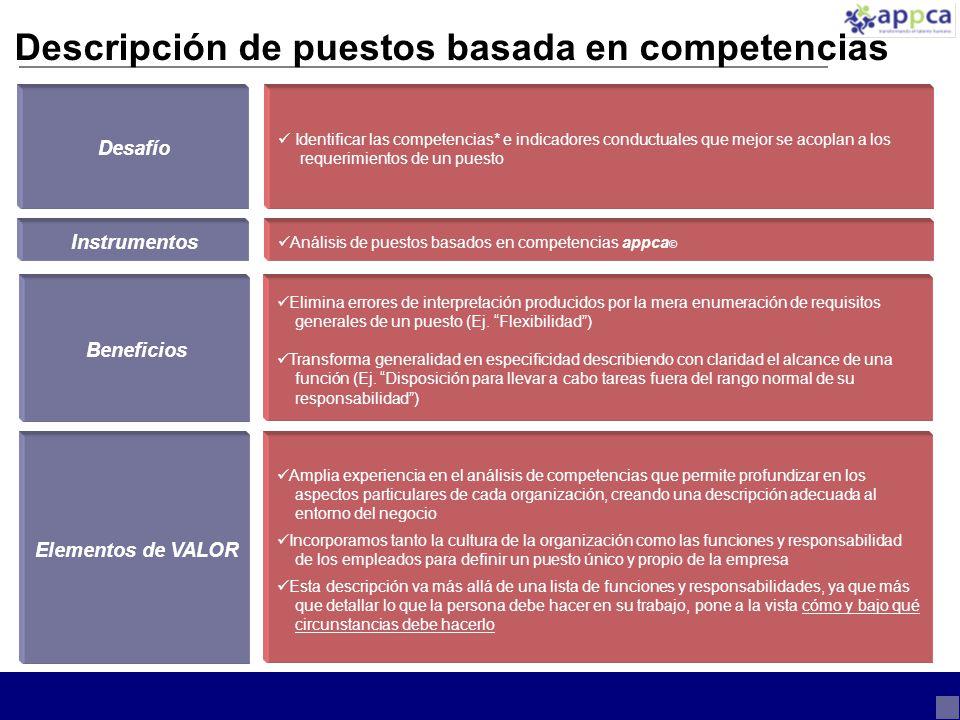 Descripción de puestos basada en competencias