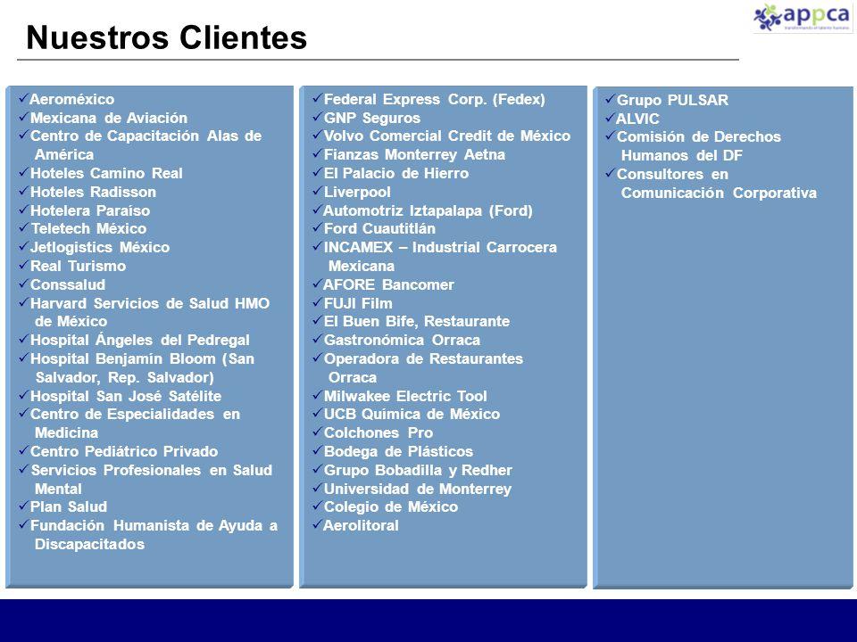 Nuestros Clientes Aeroméxico Mexicana de Aviación