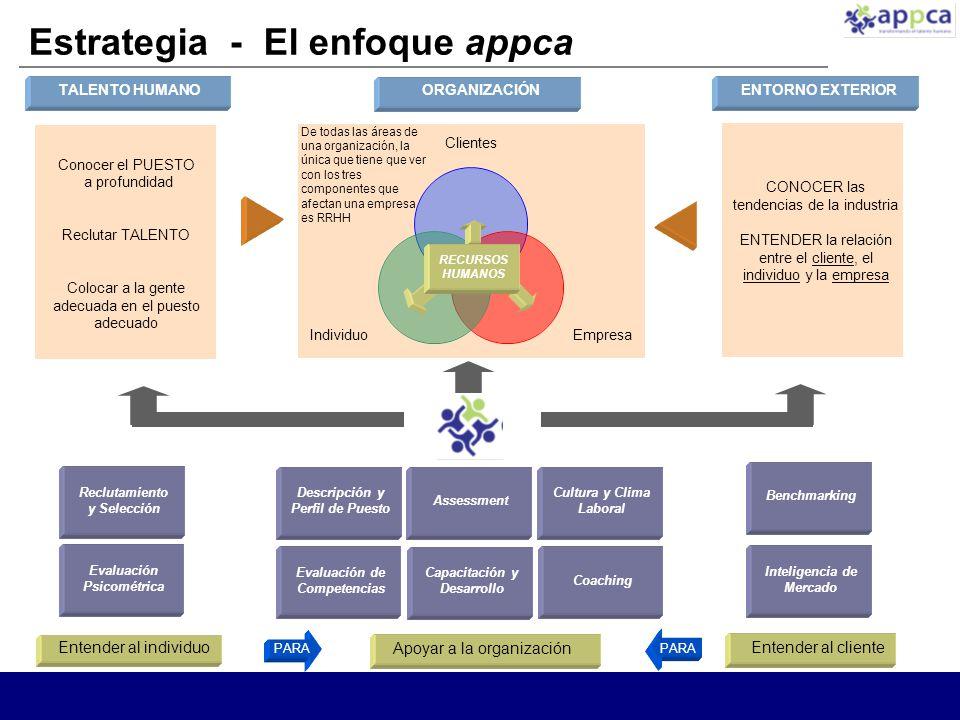 Estrategia - El enfoque appca