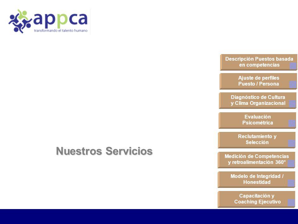 Nuestros Servicios Descripción Puestos basada en competencias