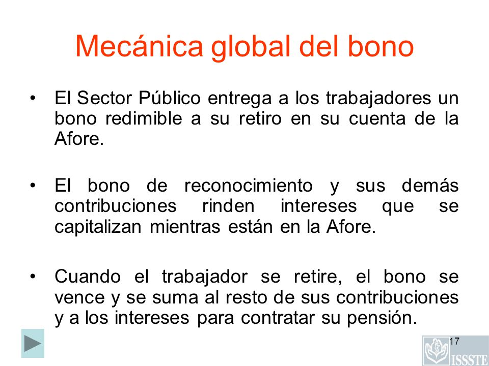 Mecánica global del bono