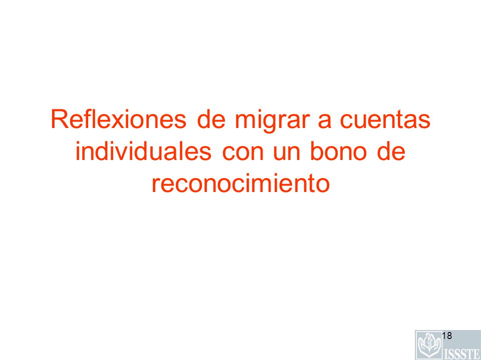 Reflexiones de migrar a cuentas individuales con un bono de reconocimiento