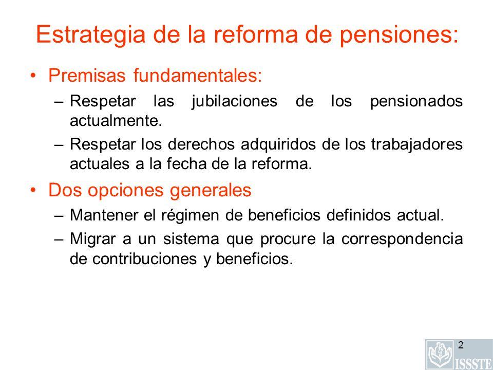 Estrategia de la reforma de pensiones: