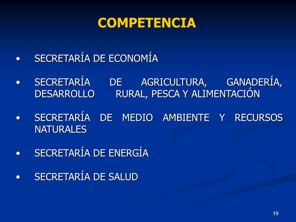COMPETENCIA SECRETARÍA DE ECONOMÍA