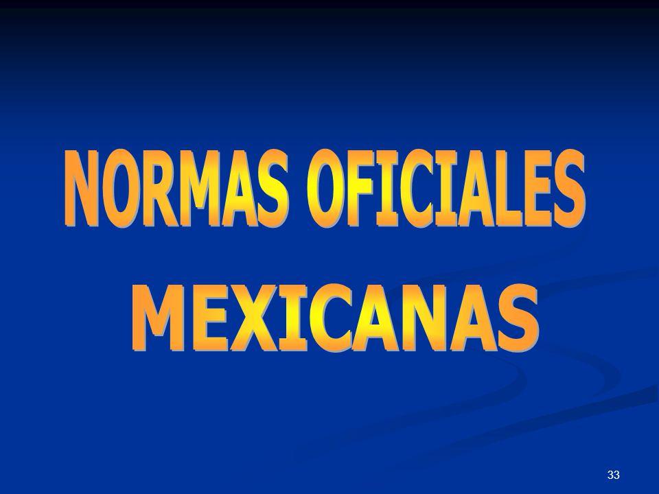 MEXICANAS NORMAS OFICIALES