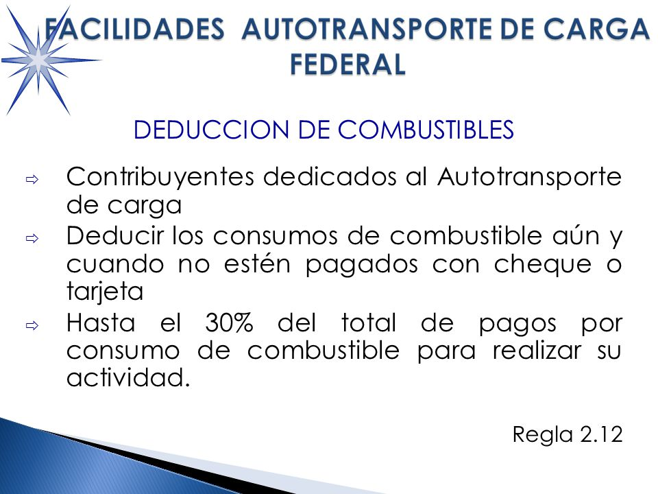 DEDUCCION DE COMBUSTIBLES