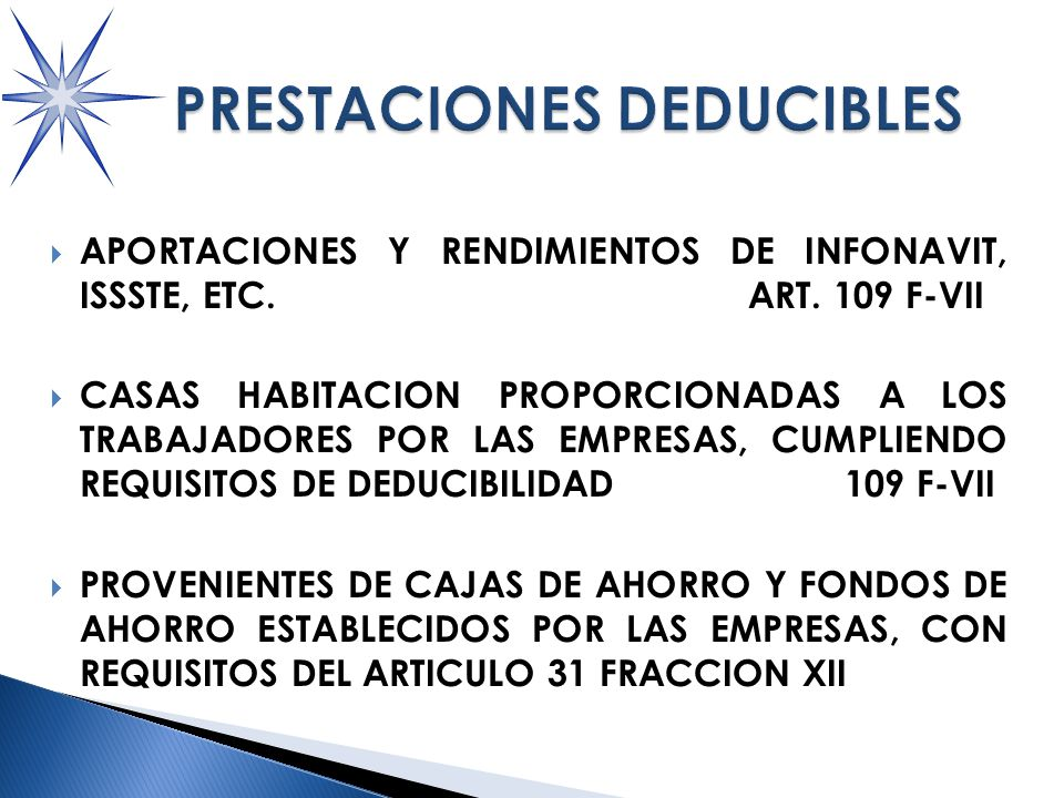 PRESTACIONES DEDUCIBLES