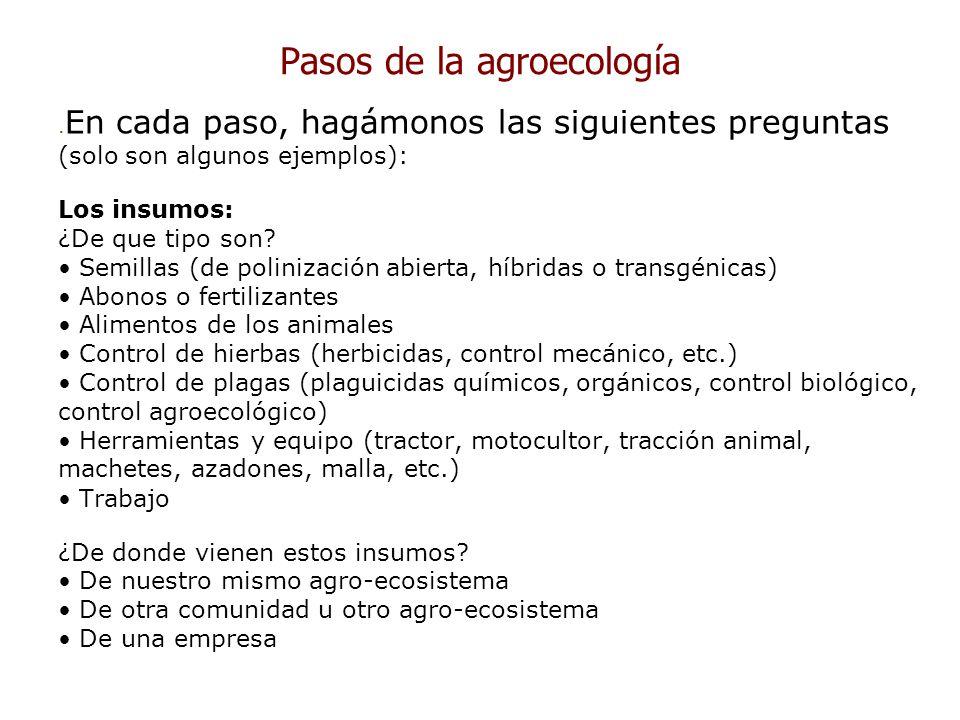 Pasos de la agroecología