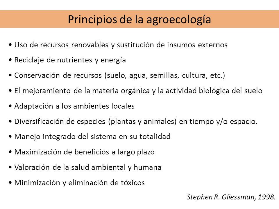 Principios de la agroecología