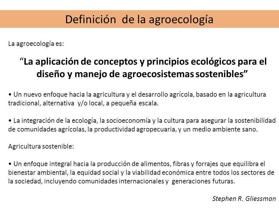 Definición de la agroecología