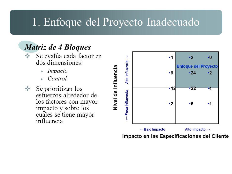 1. Enfoque del Proyecto Inadecuado
