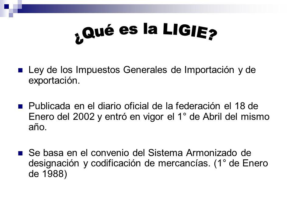 ¿Qué es la LIGIE Ley de los Impuestos Generales de Importación y de exportación.
