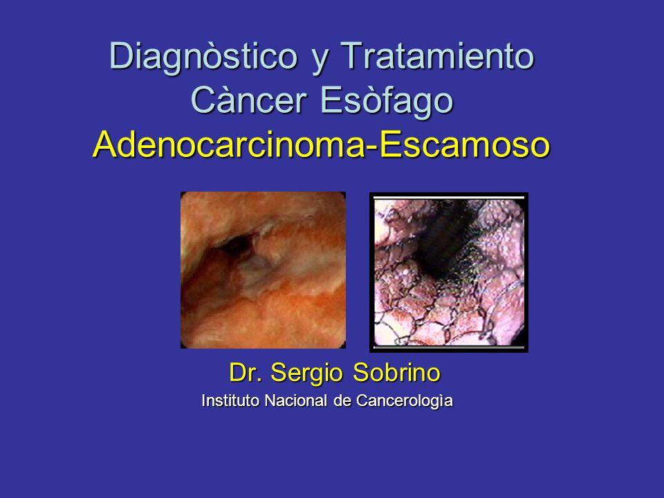 Diagnòstico y Tratamiento Càncer Esòfago Adenocarcinoma-Escamoso