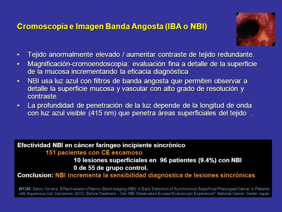 Cromoscopia e Imagen Banda Angosta (IBA o NBI)