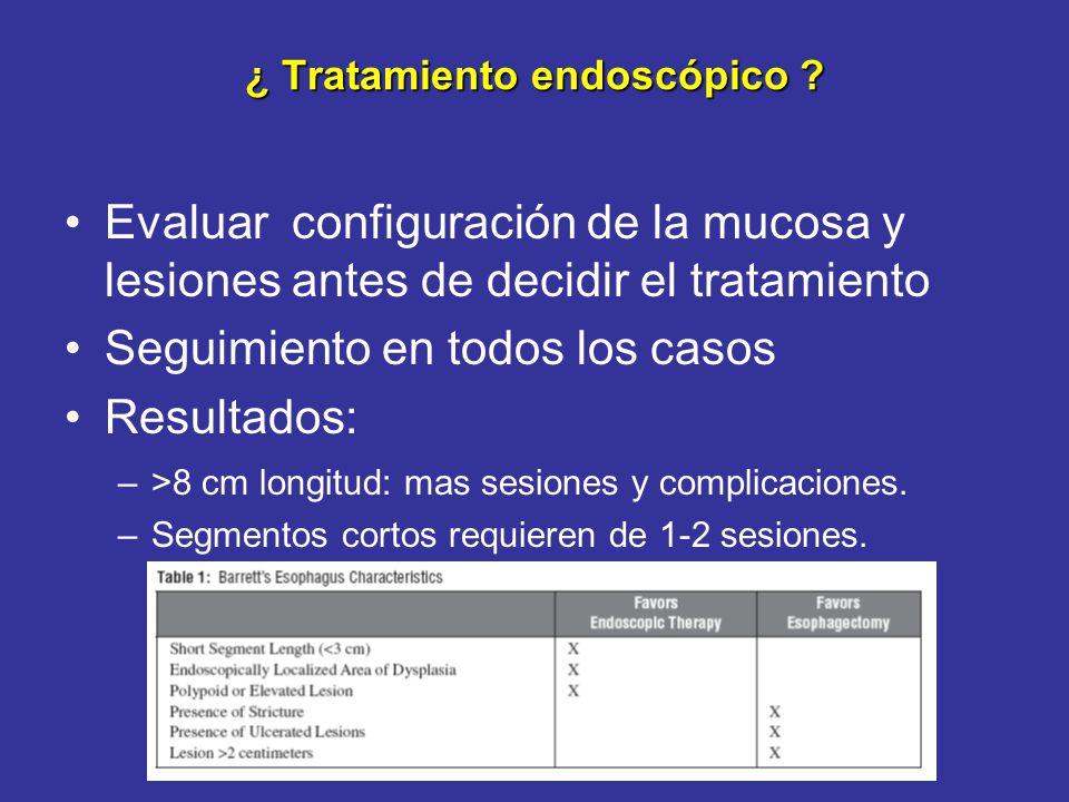 ¿ Tratamiento endoscópico