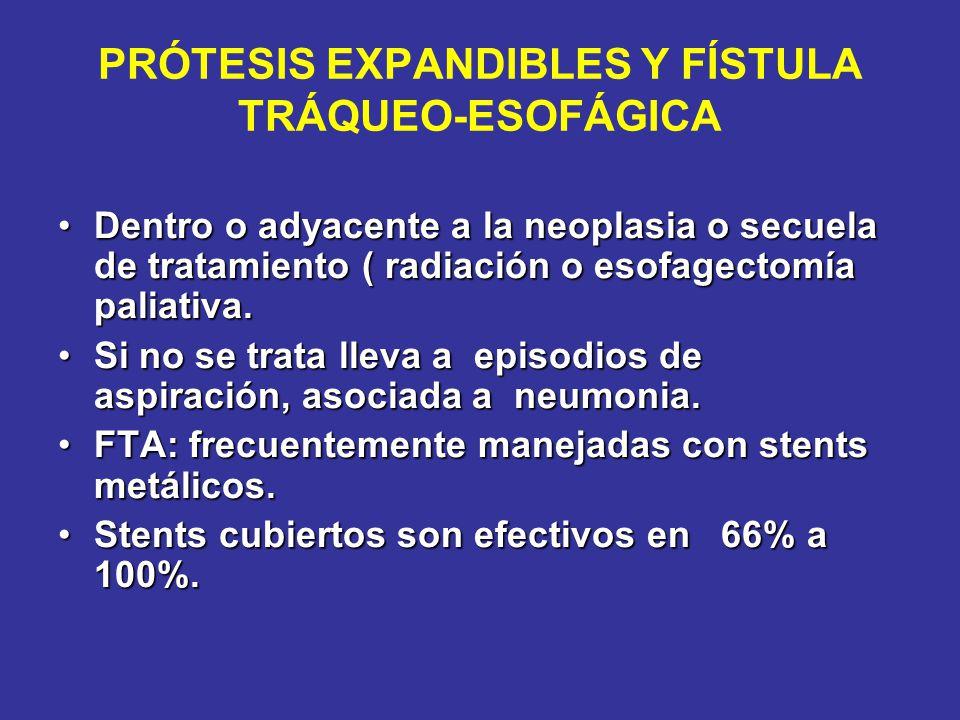 PRÓTESIS EXPANDIBLES Y FÍSTULA TRÁQUEO-ESOFÁGICA