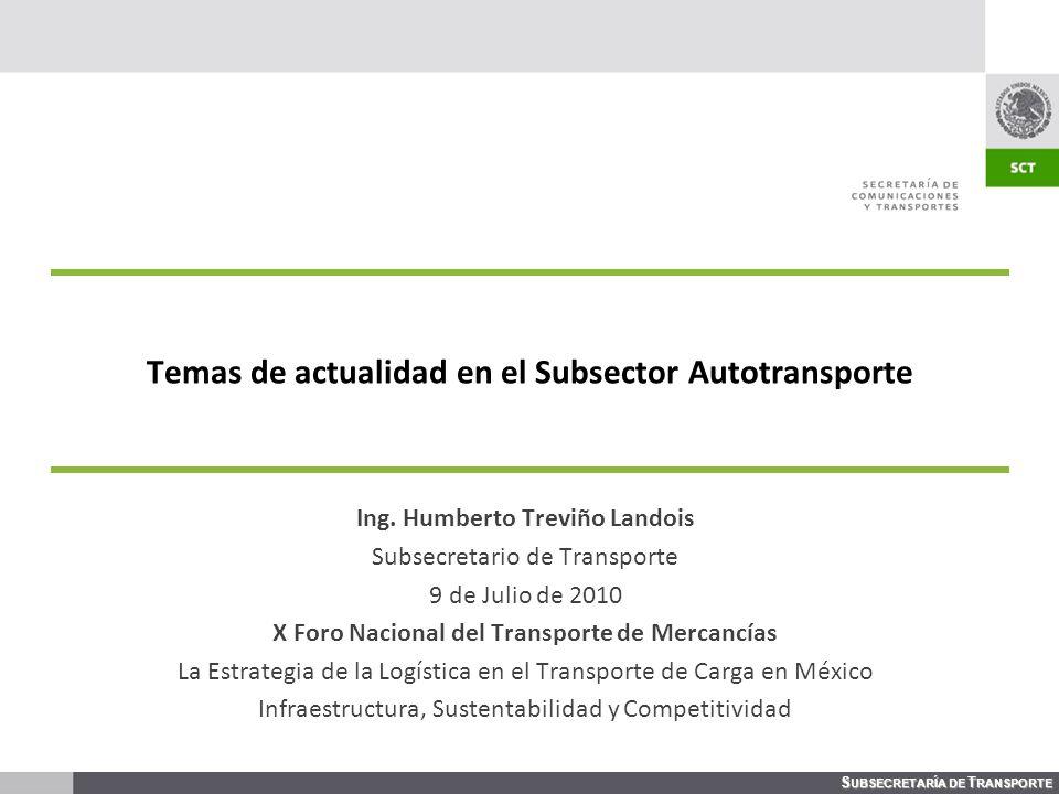 Temas de actualidad en el Subsector Autotransporte