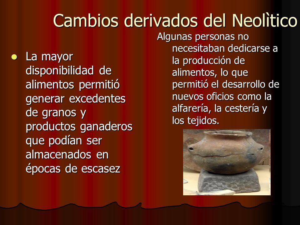 Cambios derivados del Neolìtico