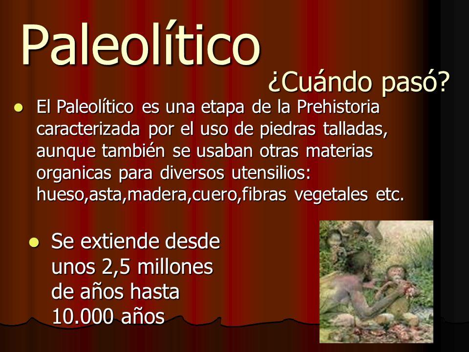 Paleolítico ¿Cuándo pasó