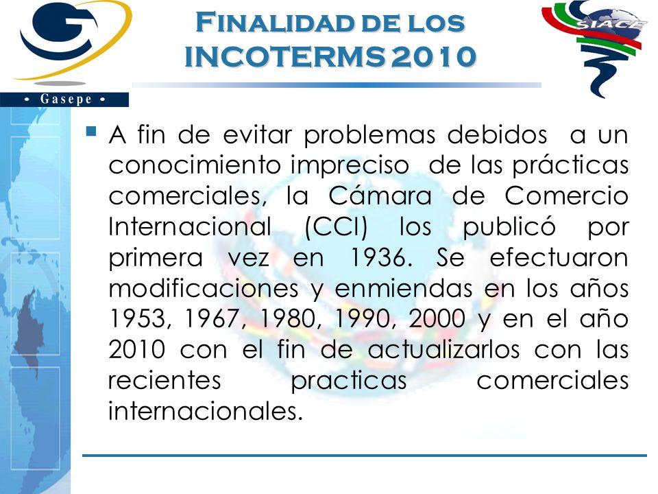 Finalidad de los INCOTERMS 2010