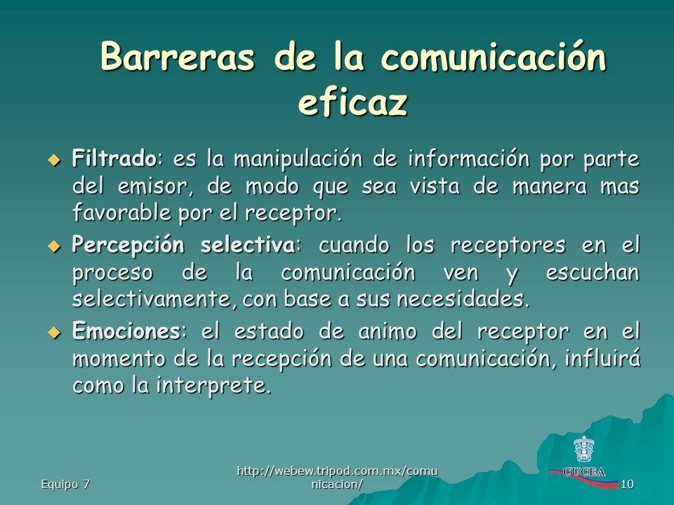 Barreras de la comunicación eficaz