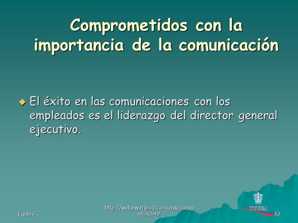 Comprometidos con la importancia de la comunicación
