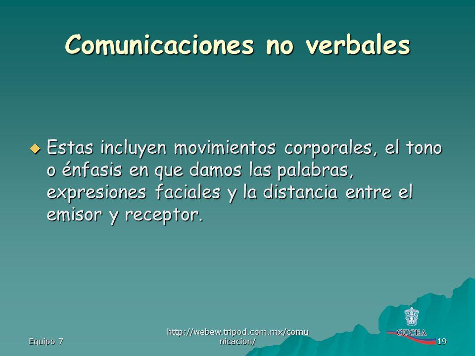 Comunicaciones no verbales