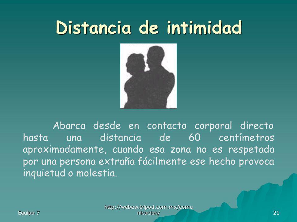 Distancia de intimidad