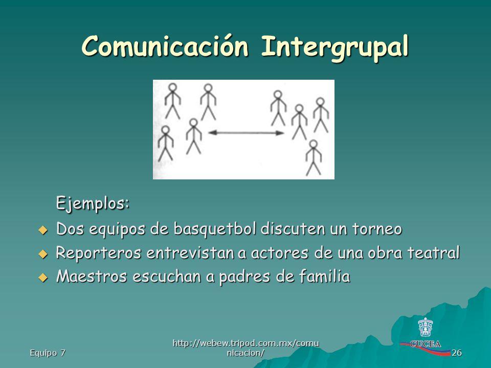 Comunicación Intergrupal