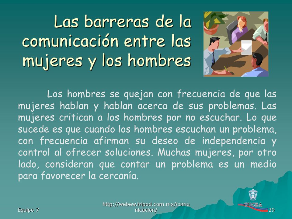 Las barreras de la comunicación entre las mujeres y los hombres