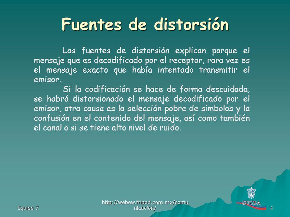 Fuentes de distorsión