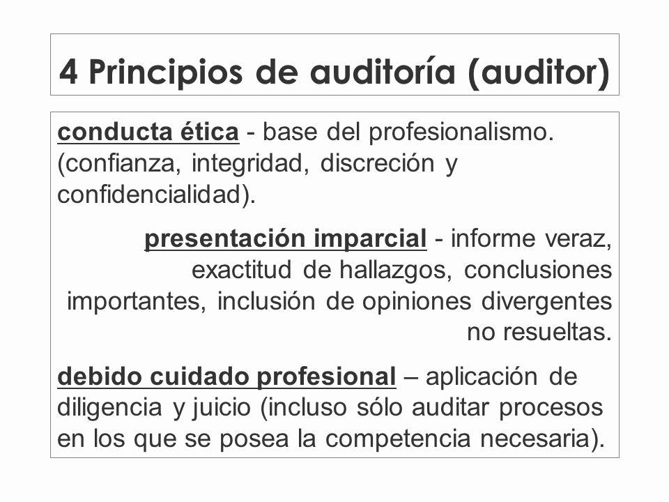 4 Principios de auditoría (auditor)