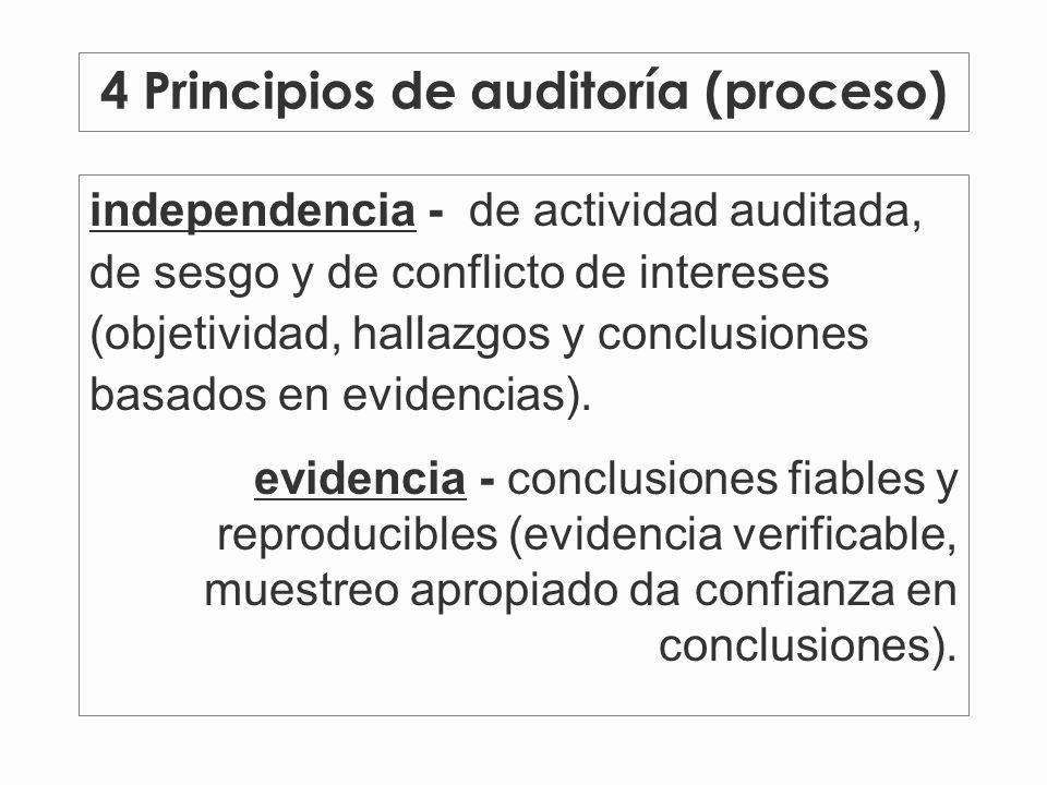4 Principios de auditoría (proceso)