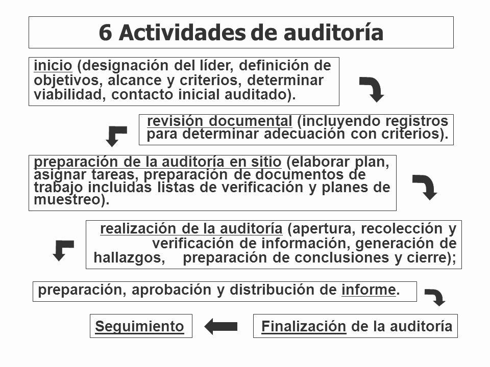 6 Actividades de auditoría