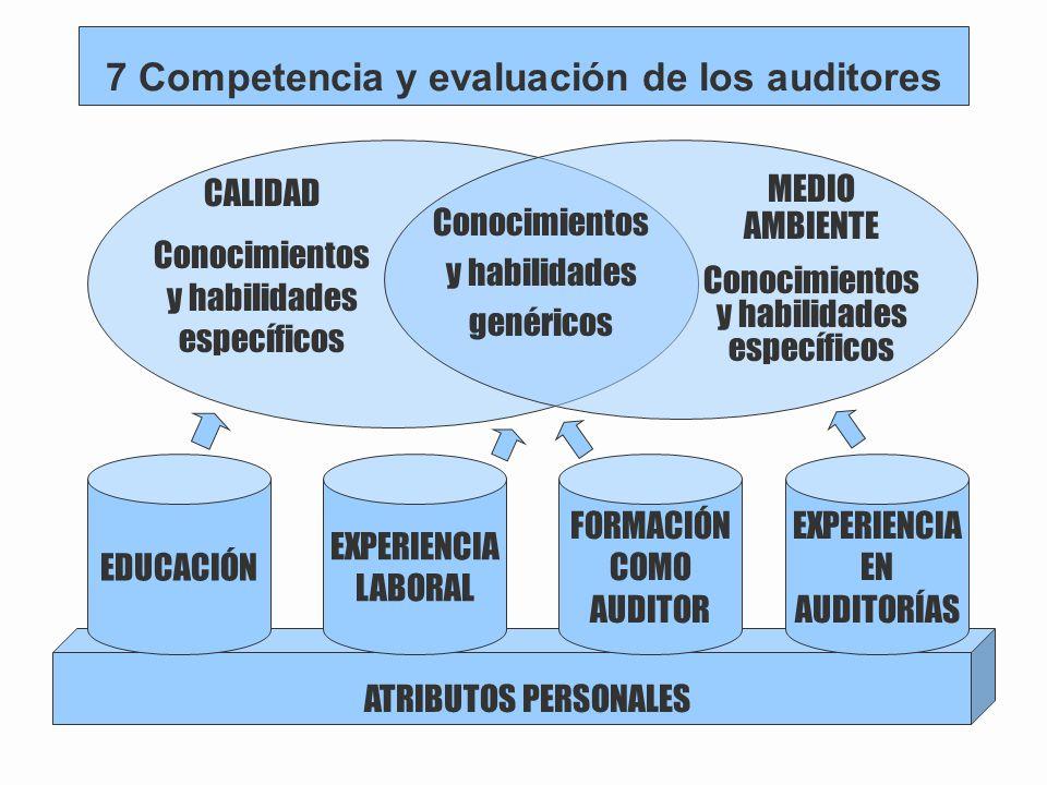 7 Competencia y evaluación de los auditores